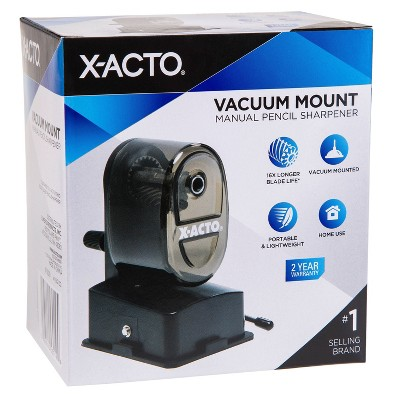 X-ACTO Vacuum Mount Manual Pencil Sharpener (Color May Vary)