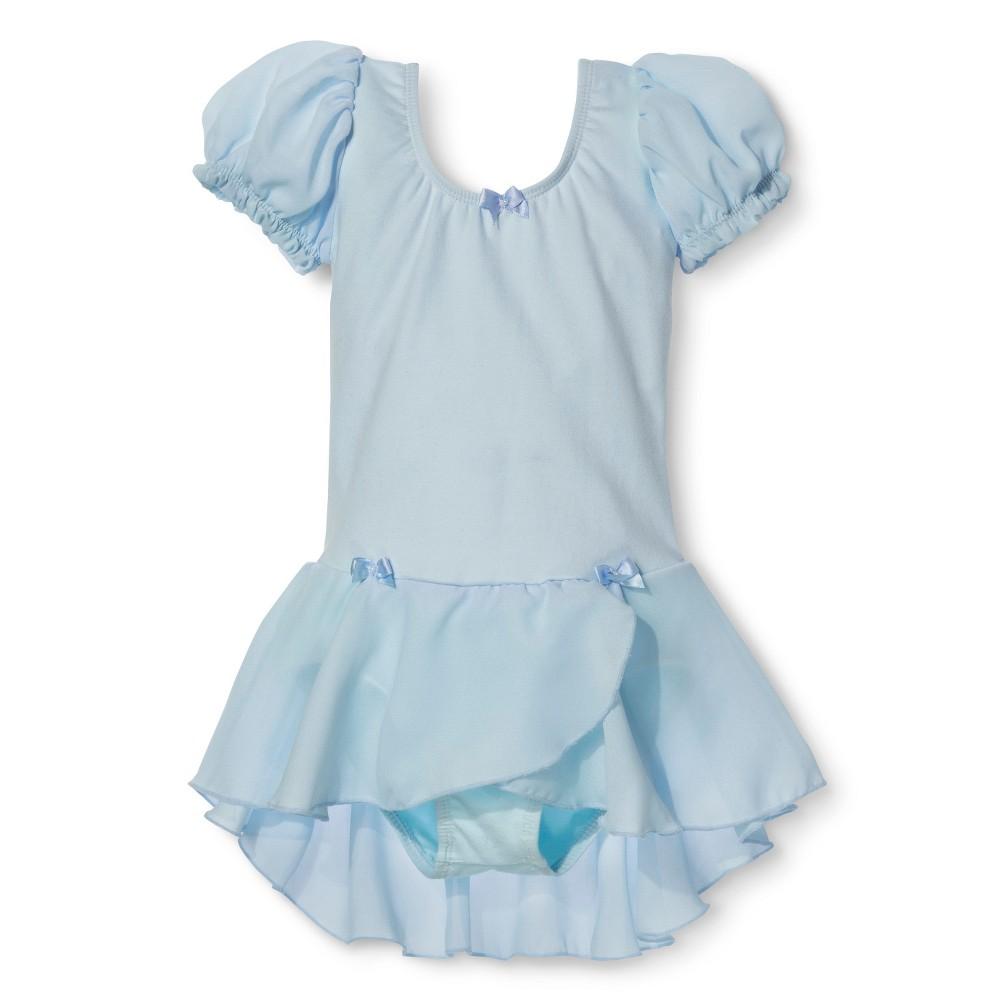 Danz N Motion Girls' Activewear Leotard Dress - Light Blue 12-14, Black