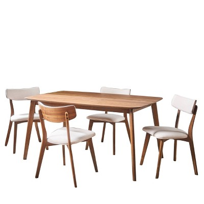 5pc Alma Mid Century Wood Dining Set - Christopher Knight Home
