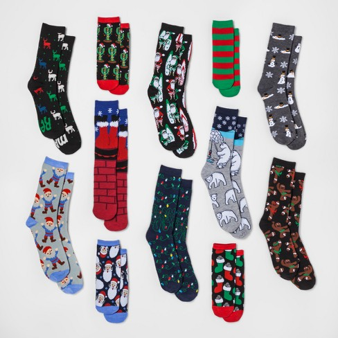 mens 12 days of socks christmas socks 6 12