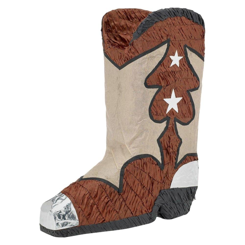 Cowboy Boot Pinata, Multi-Colored