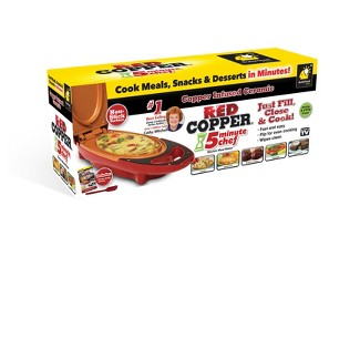As Seen on TV Copper 5 Minute Chef Electric Skillet Red