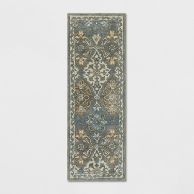 2'3 x7' Tufted Persian Accent Rugs Gray - Threshold™