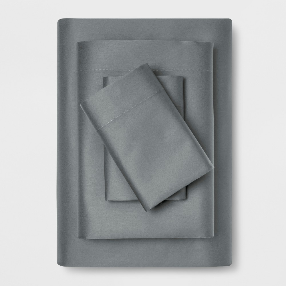 Image of Full 1200 Thread Count Bedding Sheet Set Gray - Affordable Luxury by Trident Group