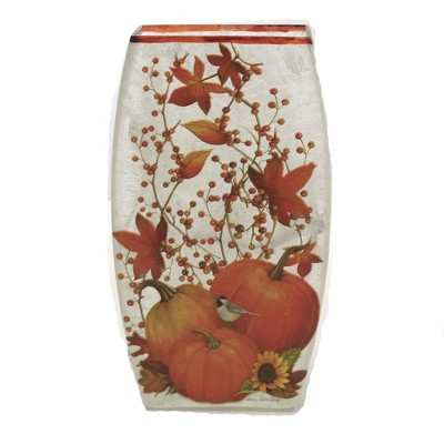 """Stony Creek 7.75"""" Fall Frosted Pre-Lit Med Vase Electric Leaves  -  Decorative Vases"""