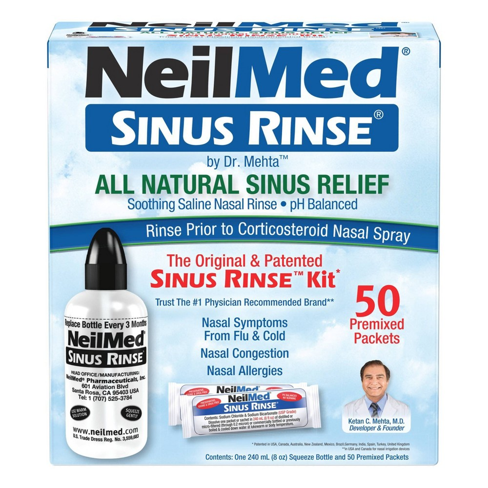 Neilmed Pharmaceuticals Original Sinus Rinse Kit Packets 50ct