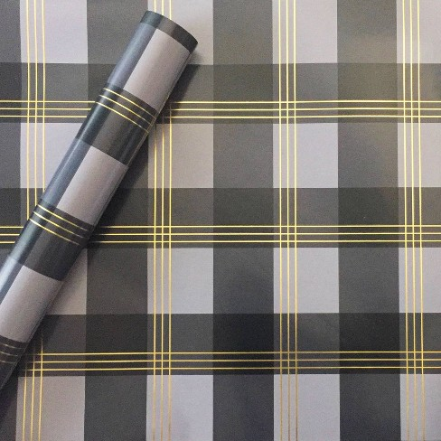Plaid Paper Gift Wrap - Spritz™ - image 1 of 1