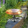 "8.5"" Stainless Steel Birdbath Bowl with Tripod Stand Polished Copper Plated - ACHLA Designs - image 3 of 4"