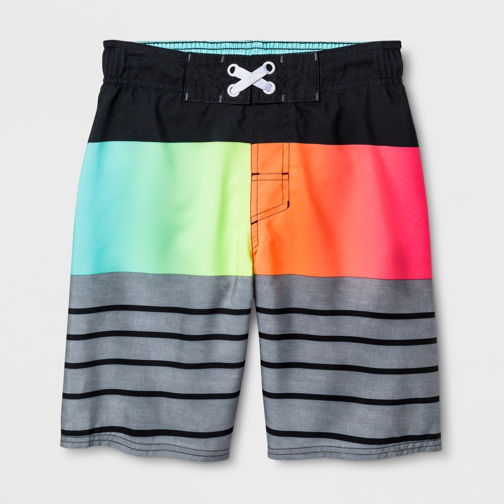 Boys' Prism Stripe Swim Trunks - Cat & Jack L, Gray