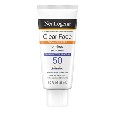 Neutrogena Clear Face Liquid Sunscreen Lotion - 3 fl oz