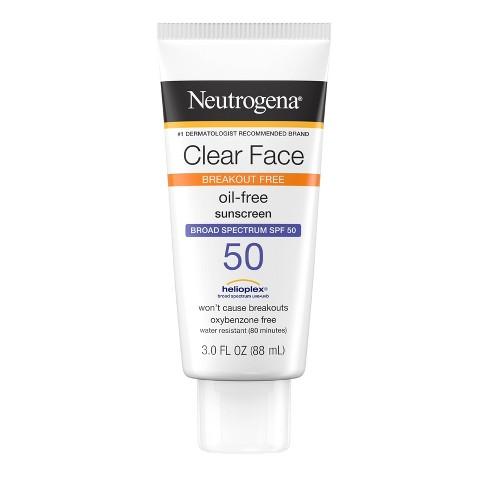 Neutrogena Clear Face Liquid Sunscreen Lotion - 3 fl oz - image 1 of 4