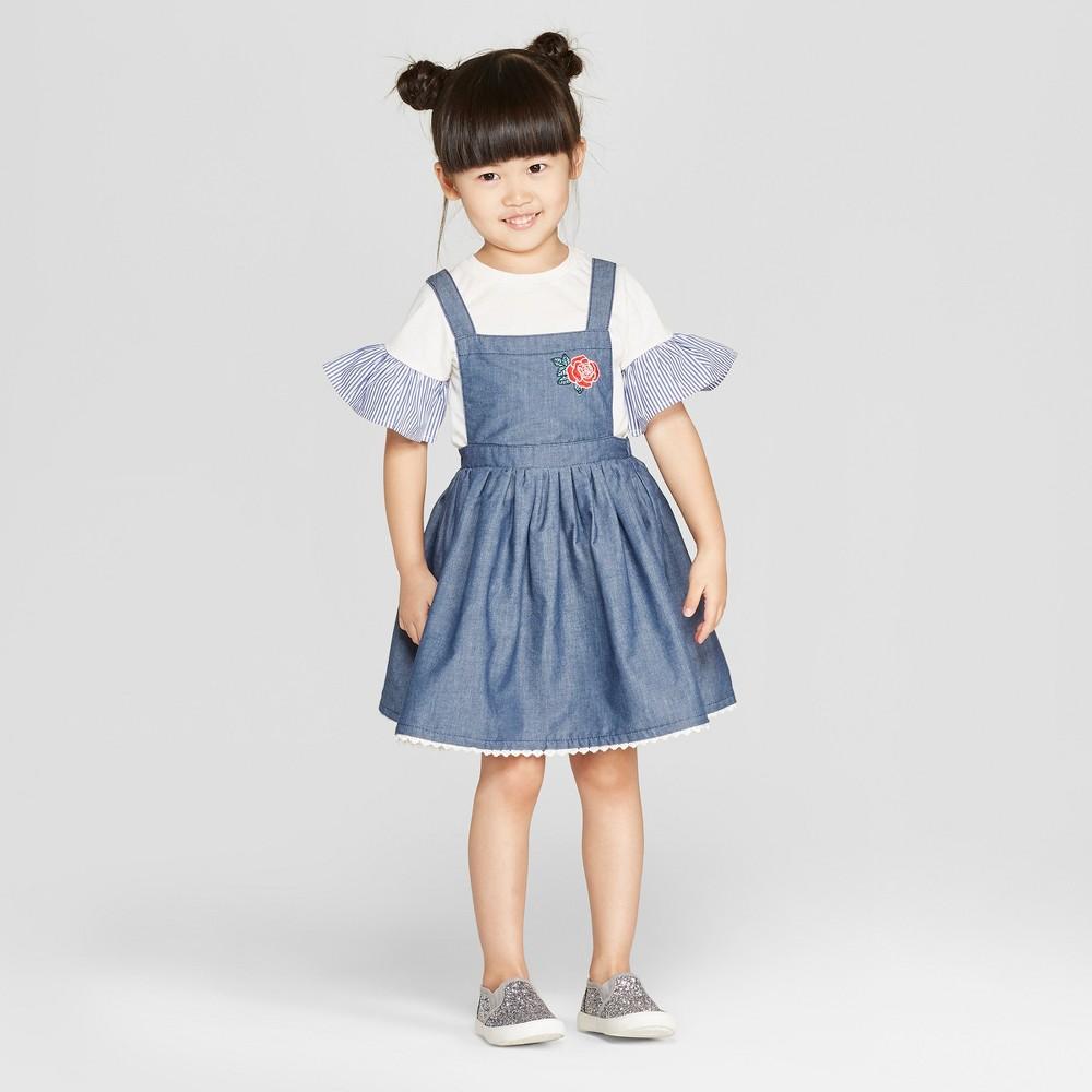 Toddler Girls' Disney Princess Belle Top and Bottom Set - Blue 4T