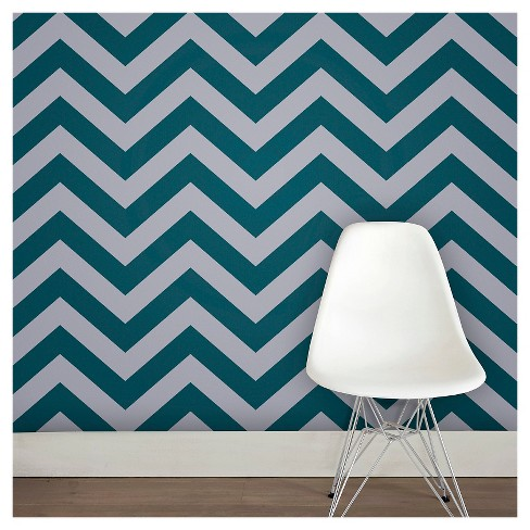 Tempaper - Zee Self-Adhesive Removable Wallpaper  - Teal - image 1 of 3