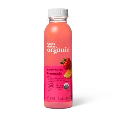 Organic Strawberry Lemonade - 12 fl oz - Good & Gather™