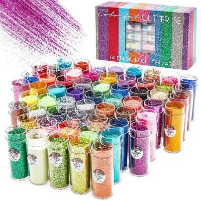Multicolor Glitter Shaker Set for Art and Crafts (0.35 oz, 60-Pack)