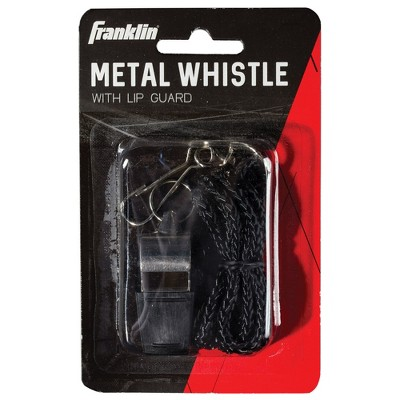 Franklin Sports Metal Whistle with Lip Guard