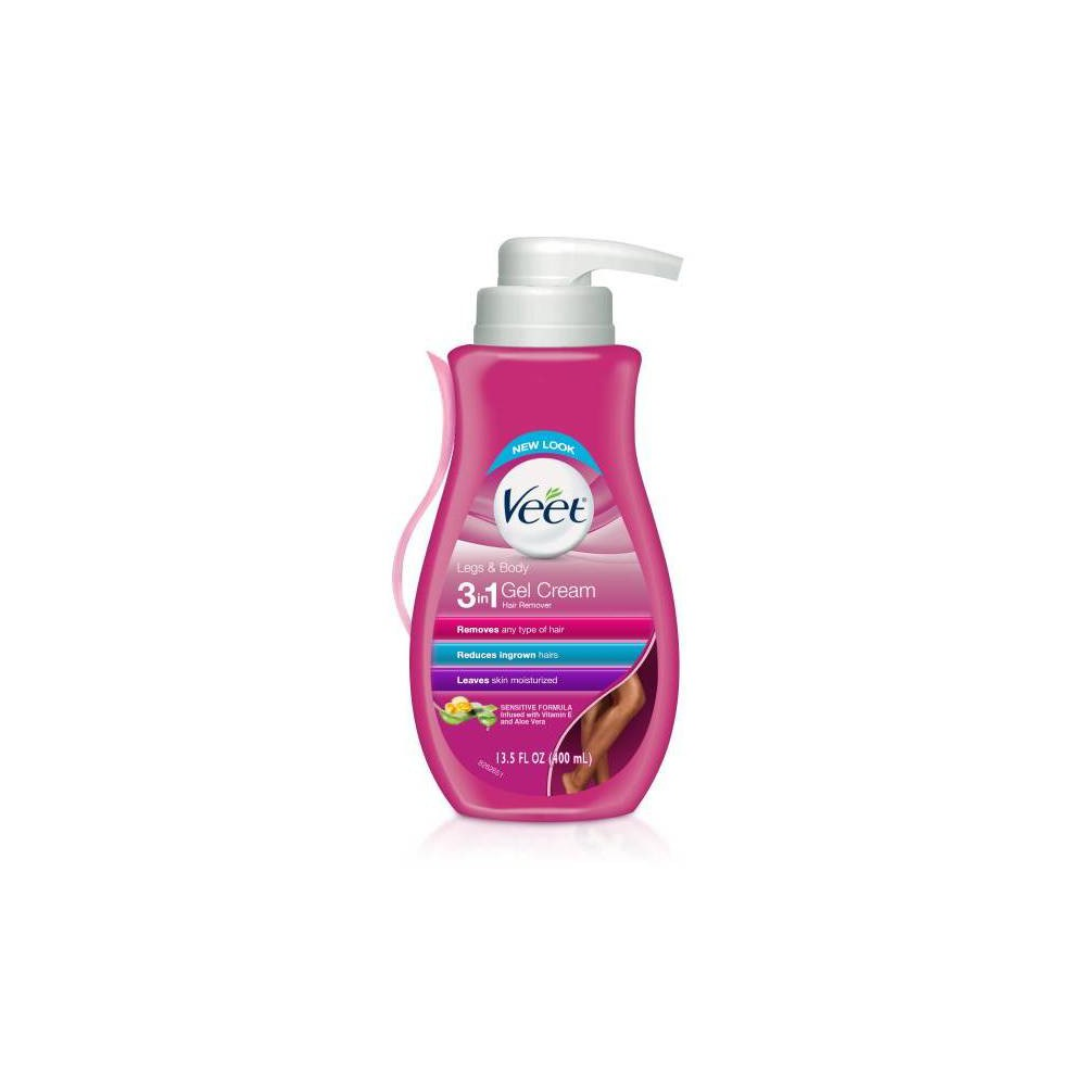 Image of Veet Aloe Vera Legs & Body Hair Remover Gel Cream - 13.5 fl oz