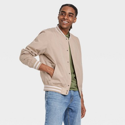 Men's Bomber Jacket - Goodfellow & Co™ Light Taupe