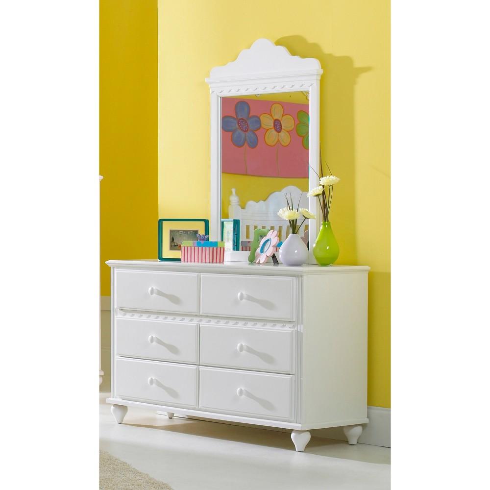Image of Lauren Mirror White - Hillsdale Furniture