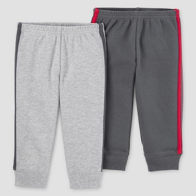 Baby Boys' 2pk Pants Set - Just One You™ Made by Carter's® Light Gray/Dark Gray NB