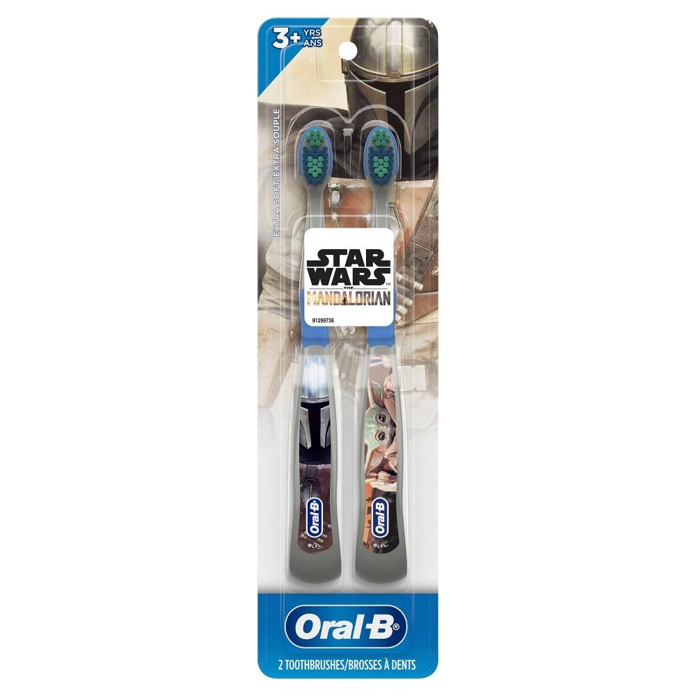 Oral B Kids Manual Toothbrush Featuring Star Wars The Mandalorian Extra Soft Bristles 2ct