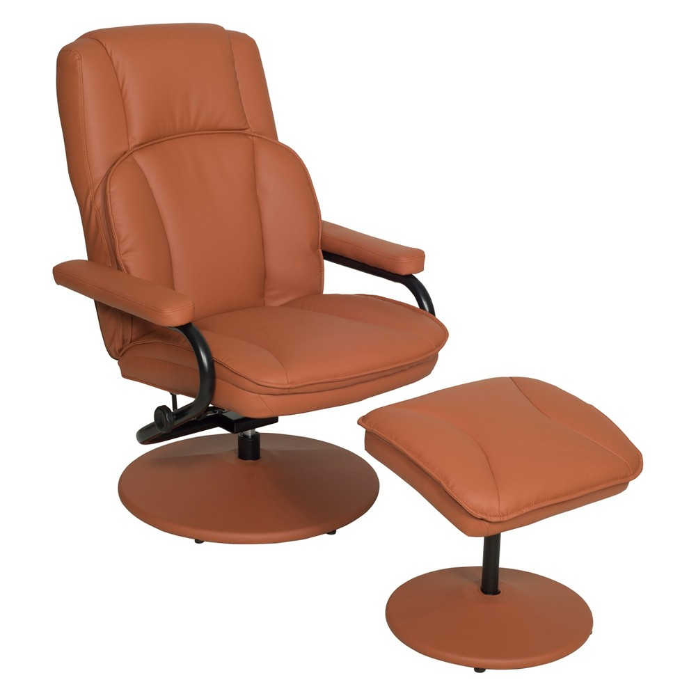 Impresa Swivel Recliner and Ottoman Toffee - Niche