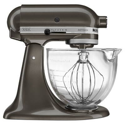 KitchenAid Artisan Design Series 5 Quart Tilt-Head Stand Mixer with Glass Bowl - KSM155GB