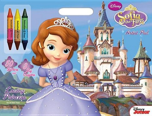 Disney Junior - Sofia the First - Loving Princess: Artist Pad with Stickers and Big Crayons (Paperback) - image 1 of 1