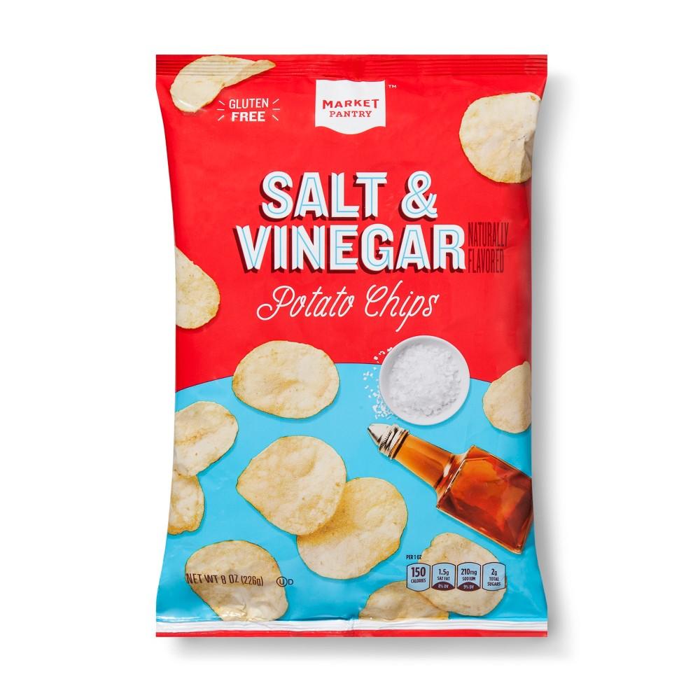Salt Vinegar Potato Chips 8oz Market Pantry 8482