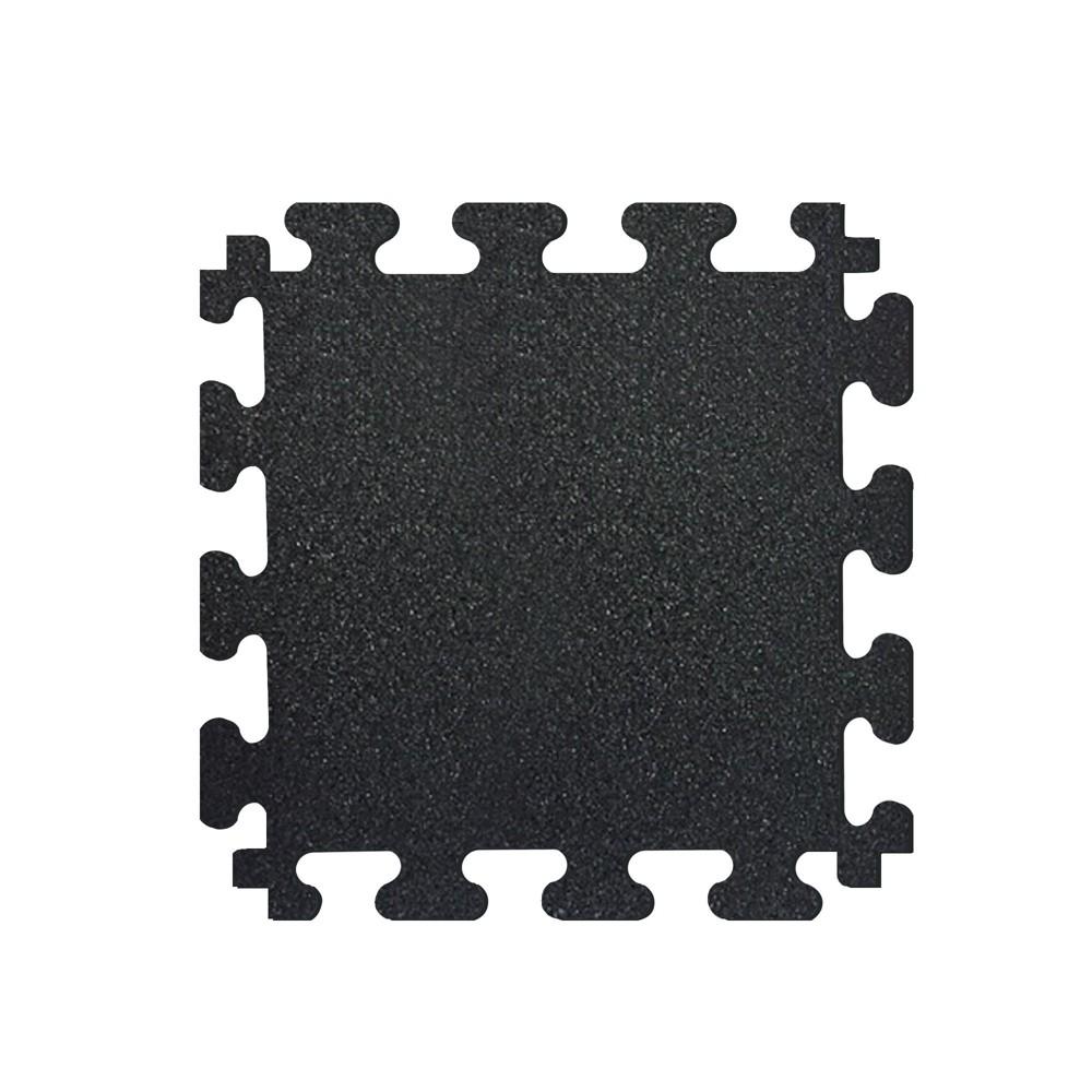 Titan Tiles Rubber Flooring, Black