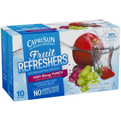 Capri Sun Fruit Refreshers Very Berry - 10pk/6 fl oz Pouches - image 1 of 4