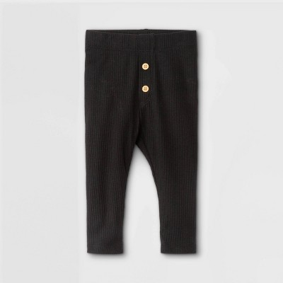Baby Rib Leggings - Cat & Jack™ Black Newborn