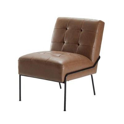 eLuxury Armless Tufted Accent Chair