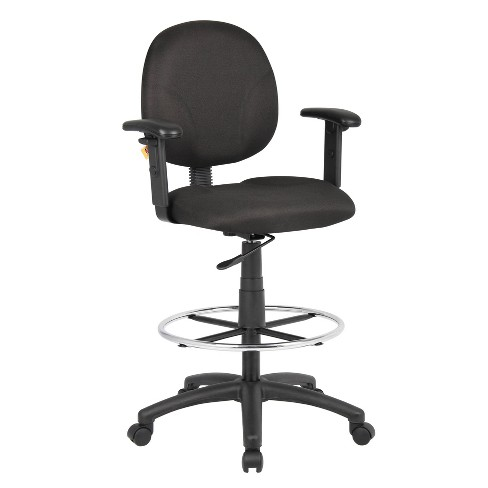 Drafting Stools with Adjustable Arms Black - Boss Office Products - image 1 of 4