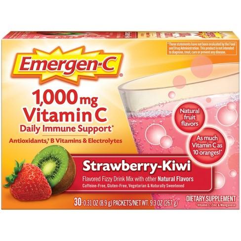 Emergen-C Vitamin C Dietary Supplement Drink Mix - Strawberry Kiwi - 30ct - image 1 of 4