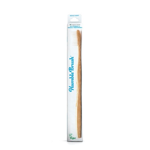 The Humble Co. Adult White Soft Toothbrush - image 1 of 3