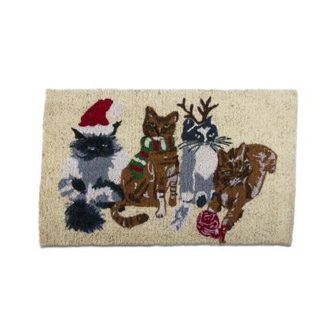TAG Holiday Cats Coir Doormat Indoor Outdoor Welcome Mat - image 1 of 2