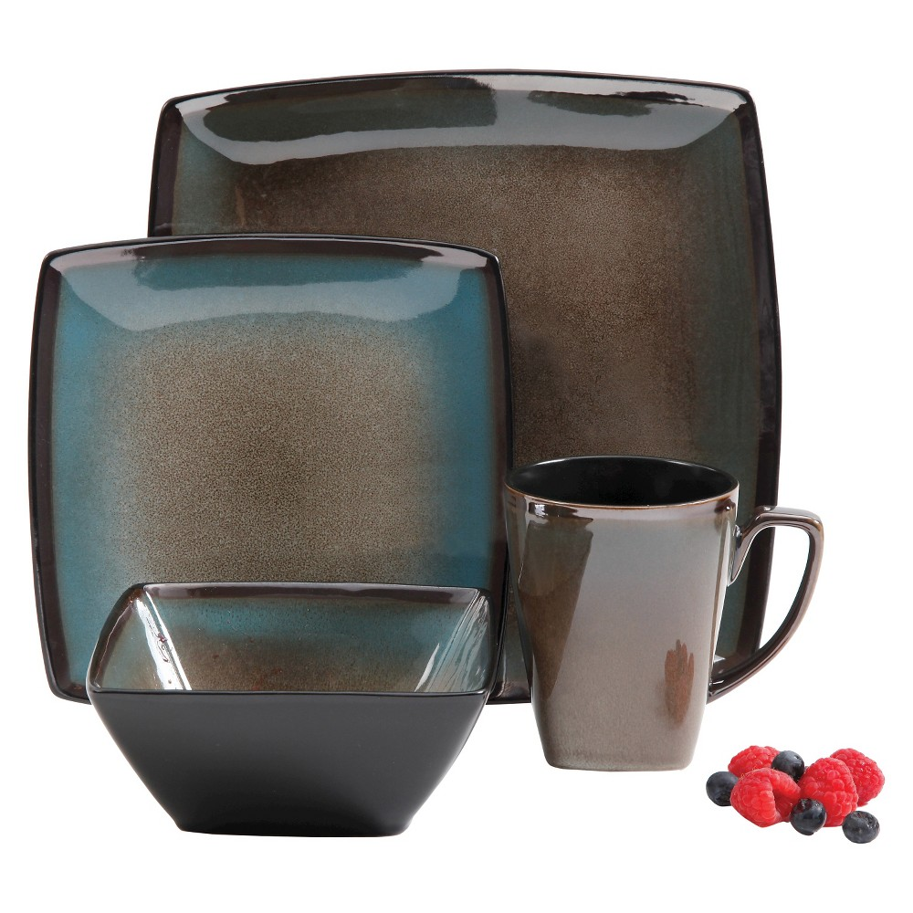 Gibson Select Tequesta 16pc Dinnerware Set Taupe, Brown Clay