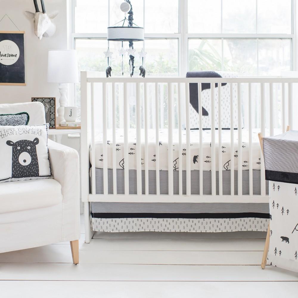 Image of Crib Bedding Set My Baby Sam White Black