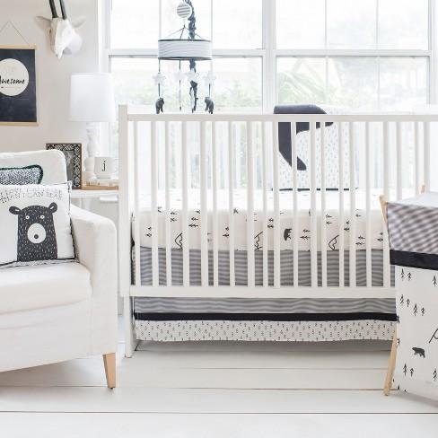 Crib Bedding Set My Baby Sam White Black - image 1 of 4
