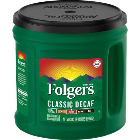 Folgers Classic Medium Roast Ground Coffee - Decaf - 30.5oz - image 1 of 4