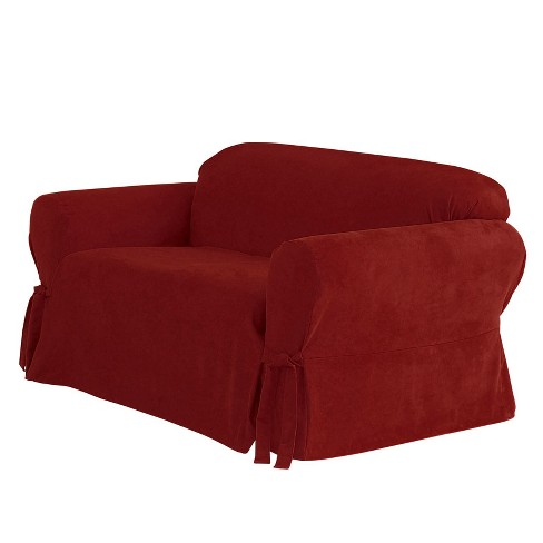 Suede Sofa Slipcover Sure Fit Target