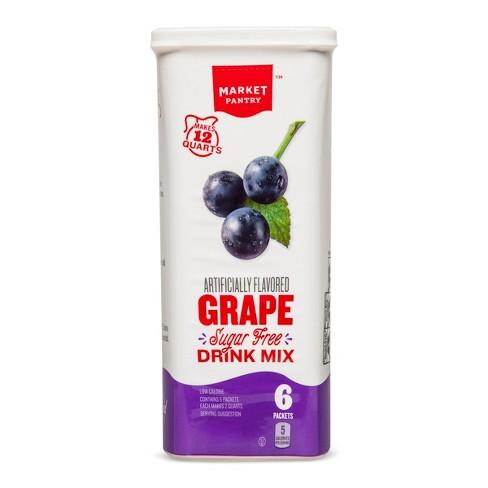 Sugar-Free Grape Drink Mix - 6ct - Market Pantry™ - image 1 of 1
