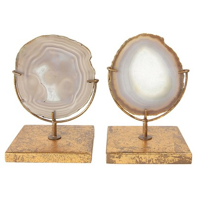 Agate on Stand - Natural (4 H)- Includes 1 Stand Only