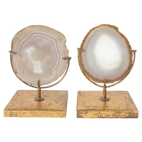 """Agate on Stand - Natural (4""""H) - Includes 1 Stand Only - image 1 of 4"""