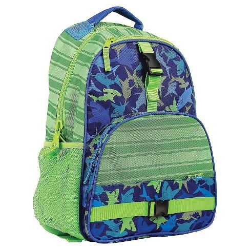 Stephen Joseph All Over Print Kids Backpack School Bag with Buckles, Adjustable Shoulder Straps, and 2 Mesh Pockets for Boys and Girls, Sharks - image 1 of 4