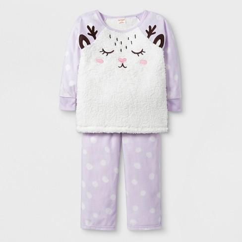 d14d19911e0f Baby Girls  2pc Deer Pajama Set - Cat   Jack™ Purple   Target