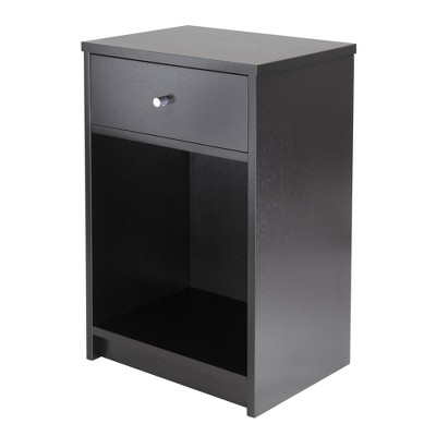 Squamish Nightstand with 1 Drawer - Black - Winsome