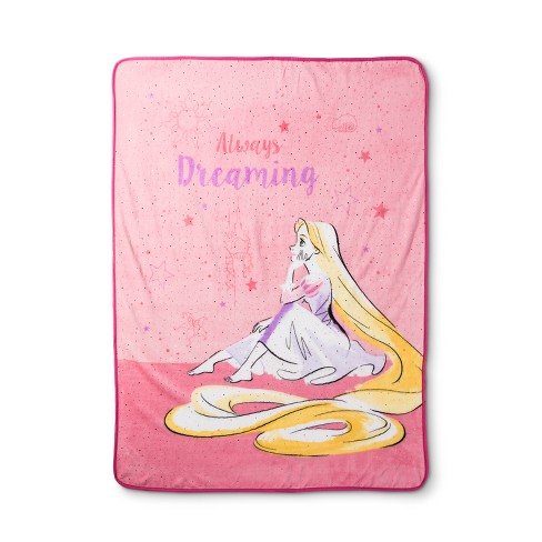 disney princess lead with your heart gold foil throw blanket 46 x60