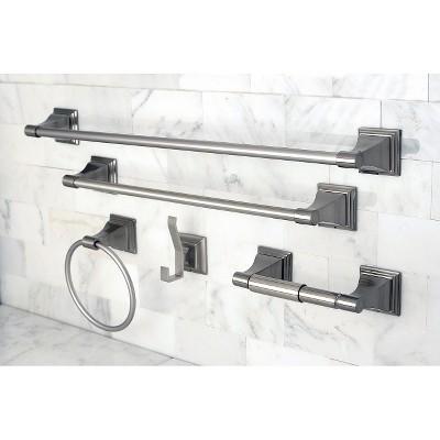 Satin Nickel 5-piece Bathroom Accessory Set - Kingston Brass